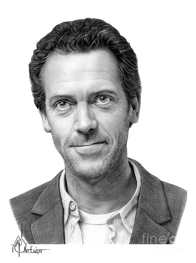 Hugh Laurie by Murphy Art Elliott