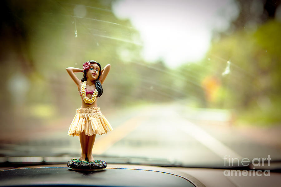 Bobble Head Photograph - Hula Dancer by Henry Lien