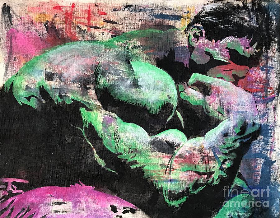 Hulk Mixed Media - Hulk Thinker by Surj LA