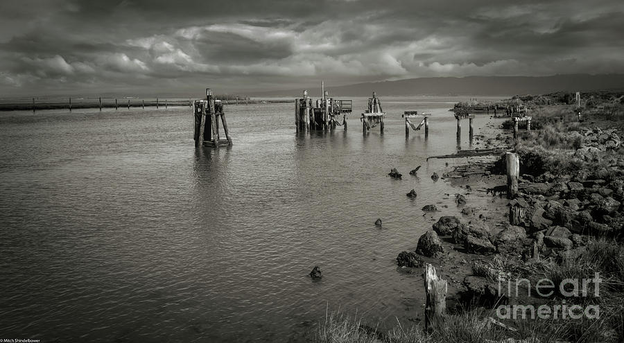 Humboldt  Bay Black And White by Mitch Shindelbower