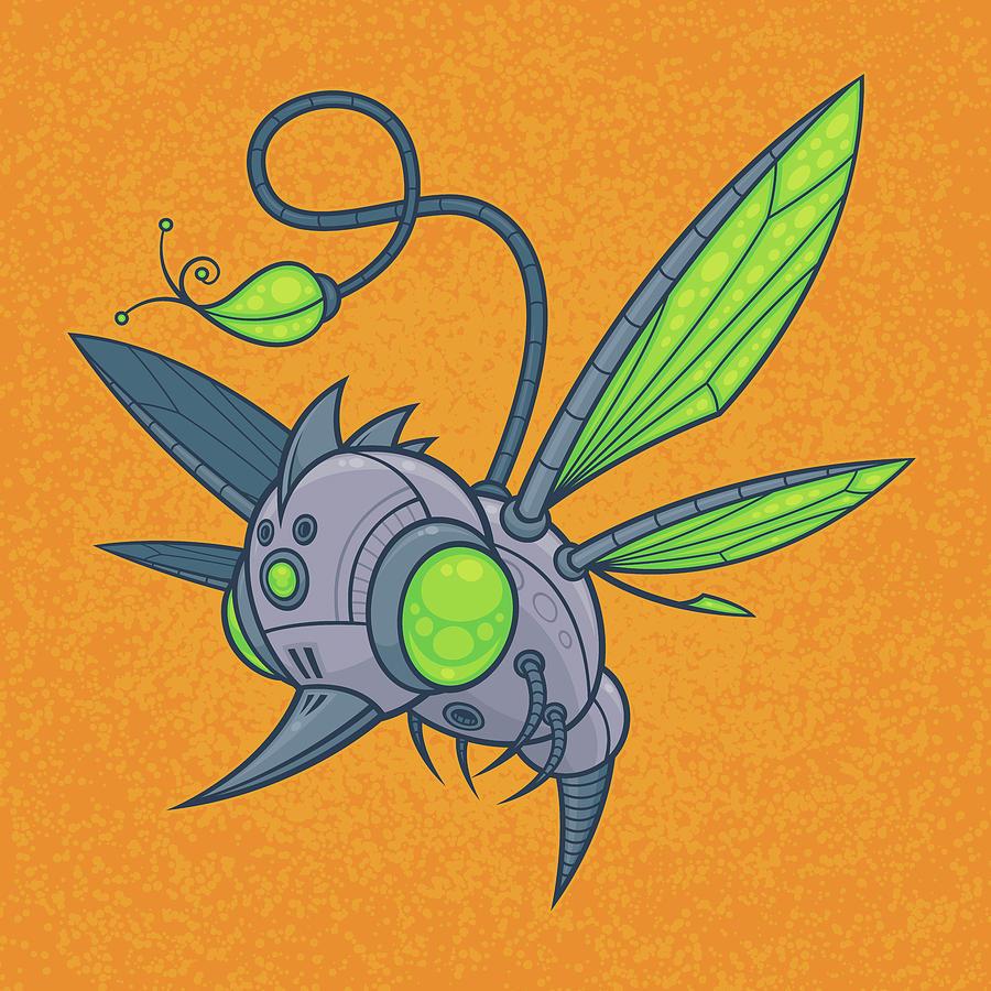 Humm-buzz Digital Art