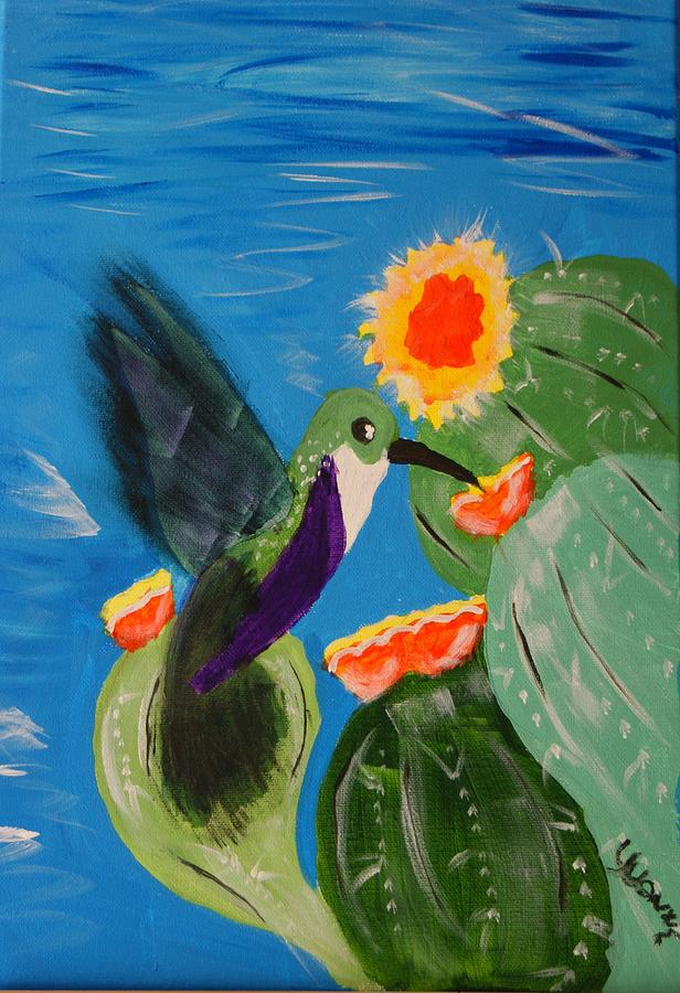 Hummingbird Painting - Humming Bird  by Yvonne Sewell