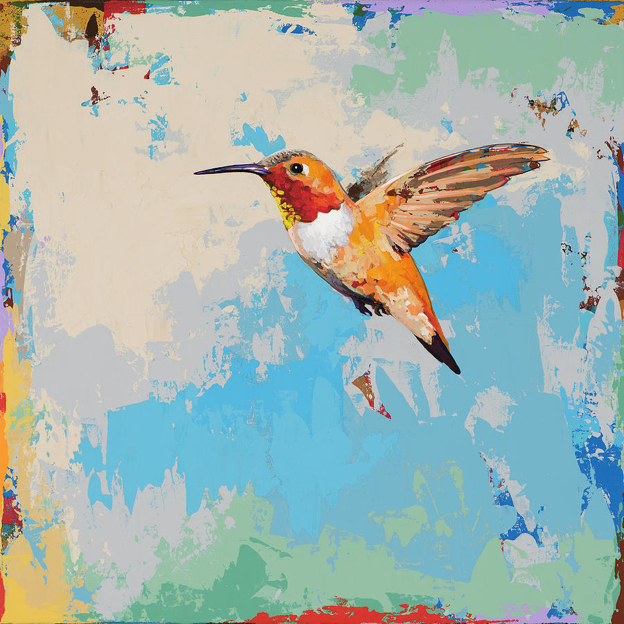 Hummingbird #24 Painting by David Palmer