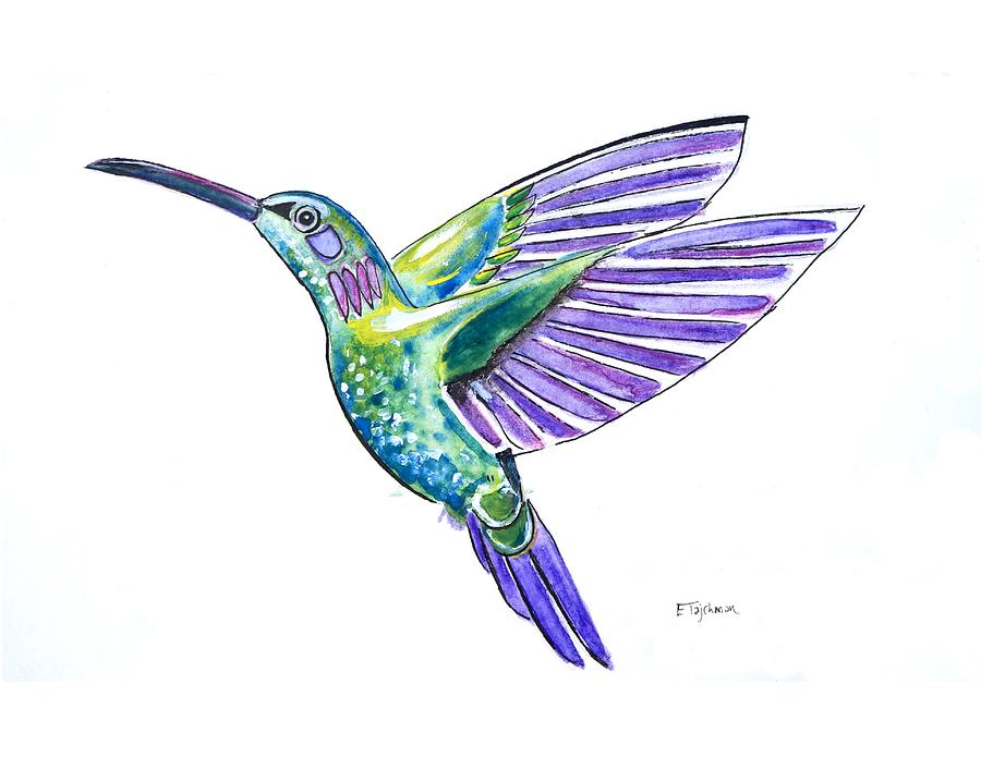 Hummingbird Painting - Hummingbird by Ed Tajchman