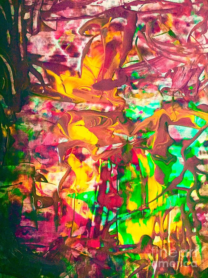Abstract Painting - Hummingbird  by Elle Justine