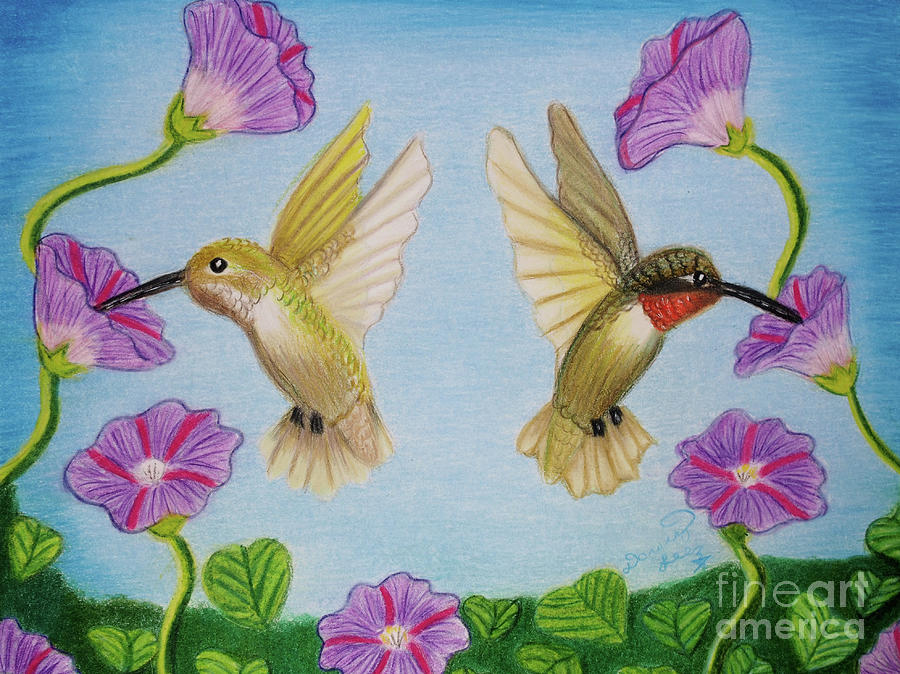 Hummingbirds In Paradise by Dorothy Lee