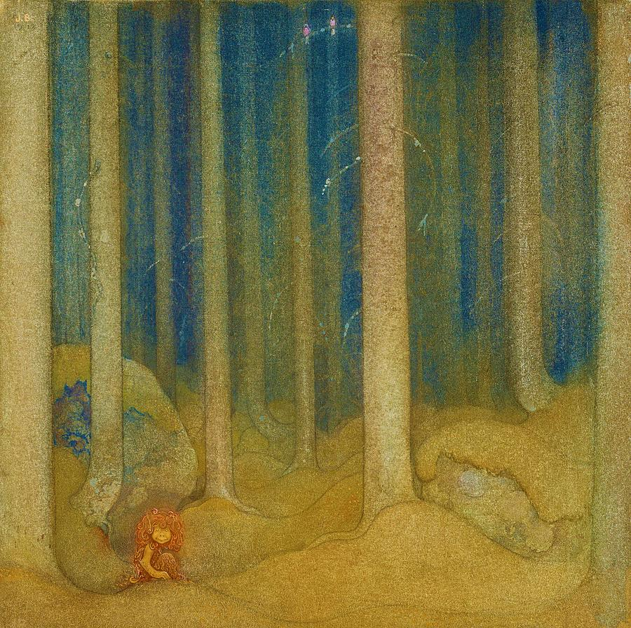 John Bauer Painting - Humpe In The Woods - Digital Remastered Edition by John Bauer