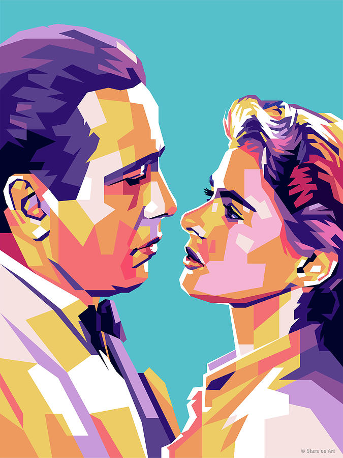 Humphrey Bogart And Ingrid Bergman Digital Art