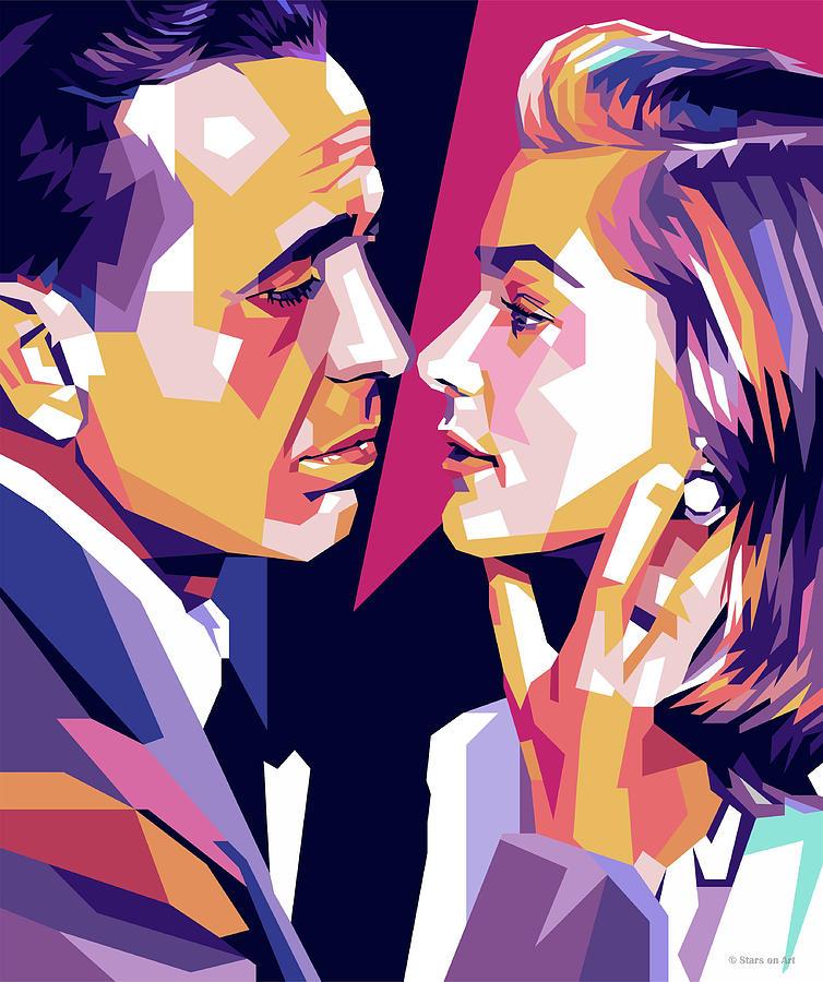Humphrey Digital Art - Humphrey Bogart And Lauren Bacall by Stars on Art