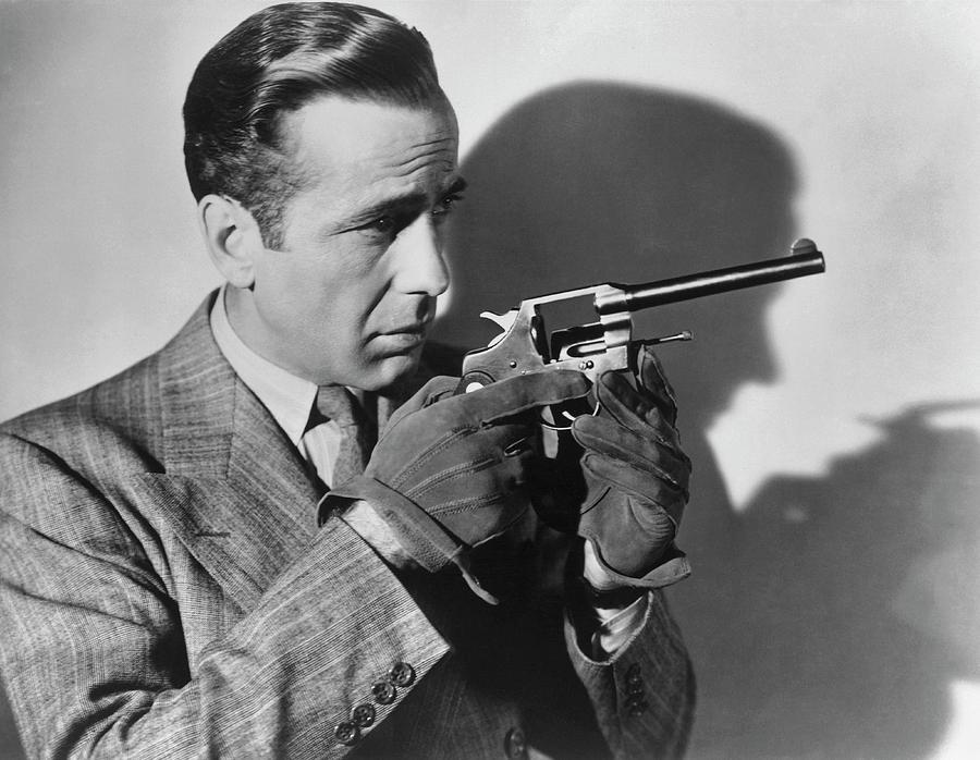 Humphrey Bogart With A Gun Photograph by Archive Photos