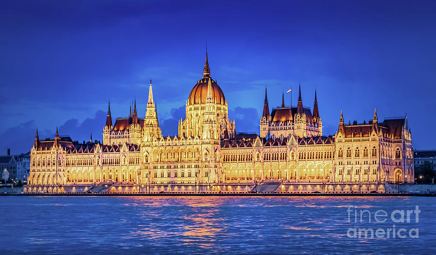 Hungarian Parliament by Joseph Miko