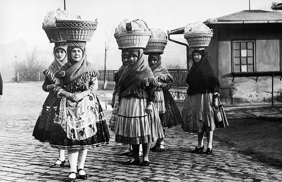 Hungarian Peasant Women, 1950s Photograph by Keystone-france