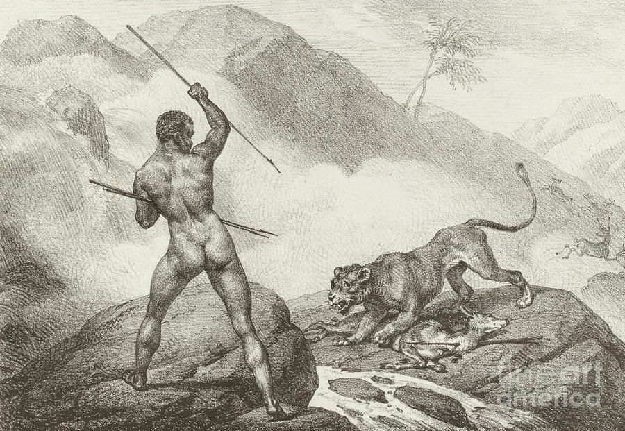 Hunter by Emile Jean Horace Vernet