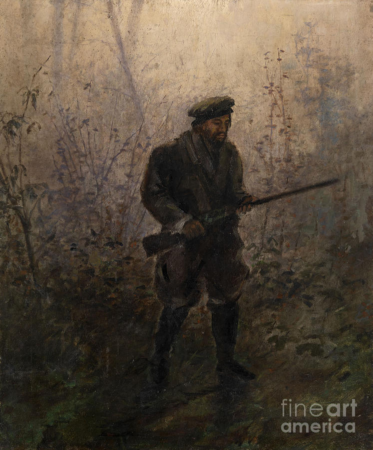Hunter In The Forest. Artist Drawing by Heritage Images
