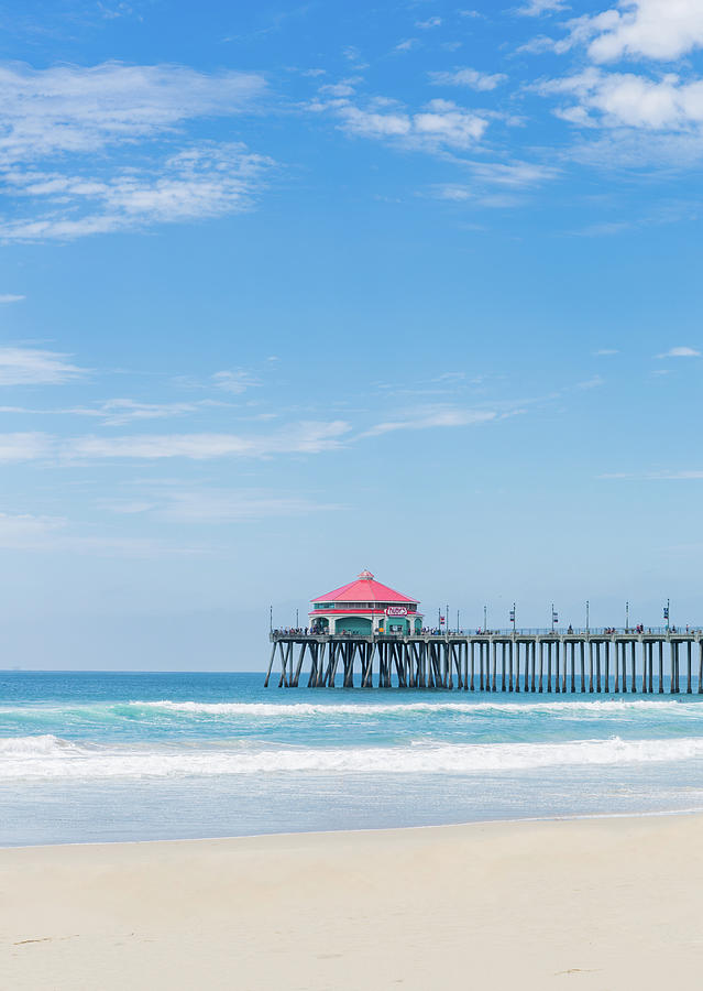 Huntingdon Beach Pier, California by Maggie McCall