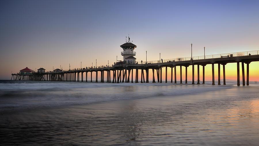 Huntington Beach Pier, California Xxxl Photograph by 4fr