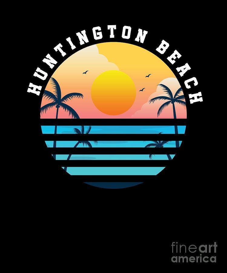 Huntington Beach Surfing Vintage California Summer