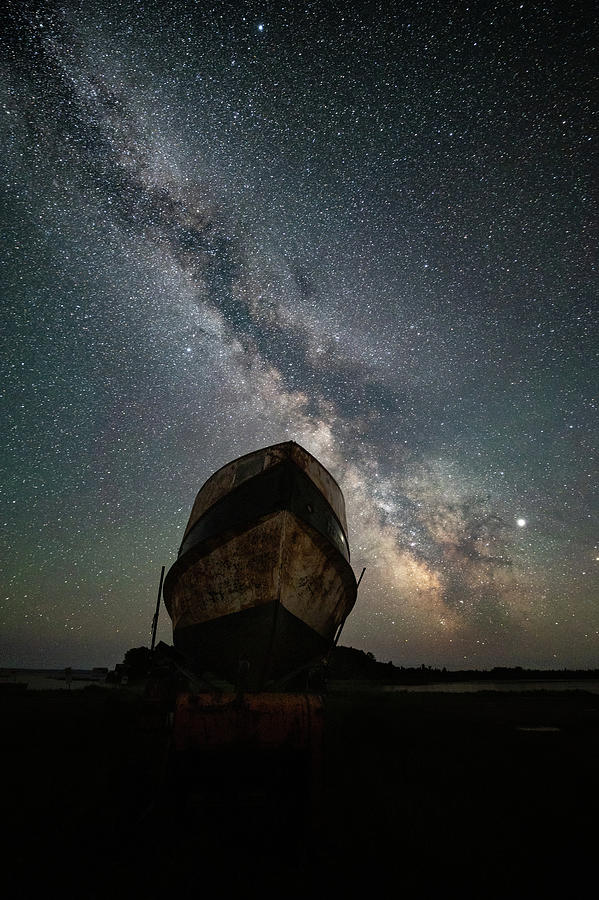 Abandoned Photograph - Hurkett Shipwrecks On A Late June Night by Jakub Sisak