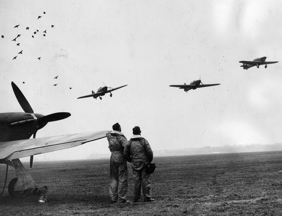 Hurricane Fighters Photograph by William Vanderson