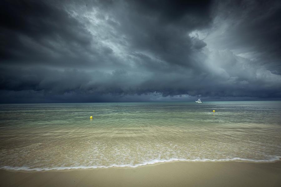 Hurricane Storm Season In Caribbean Sea Photograph by Yinyang