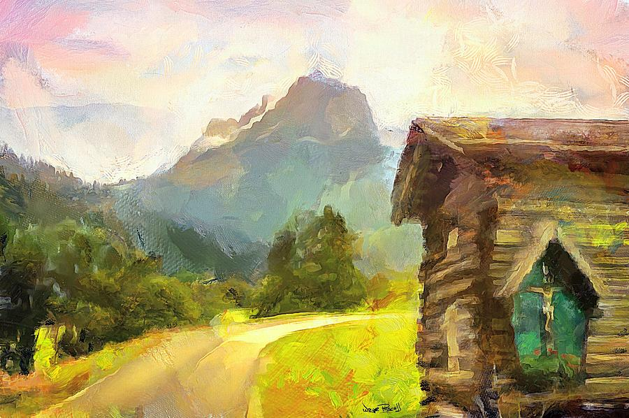 Hut by The Mountain by Wayne Pascall