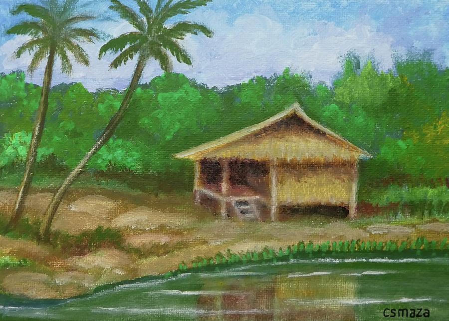 Hut by the River by Cyril Maza