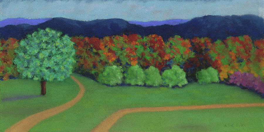 Hutchins Farm in Fall by Anne Katzeff