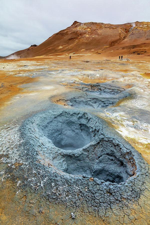 Hverir Iceland Mud Pools Photograph