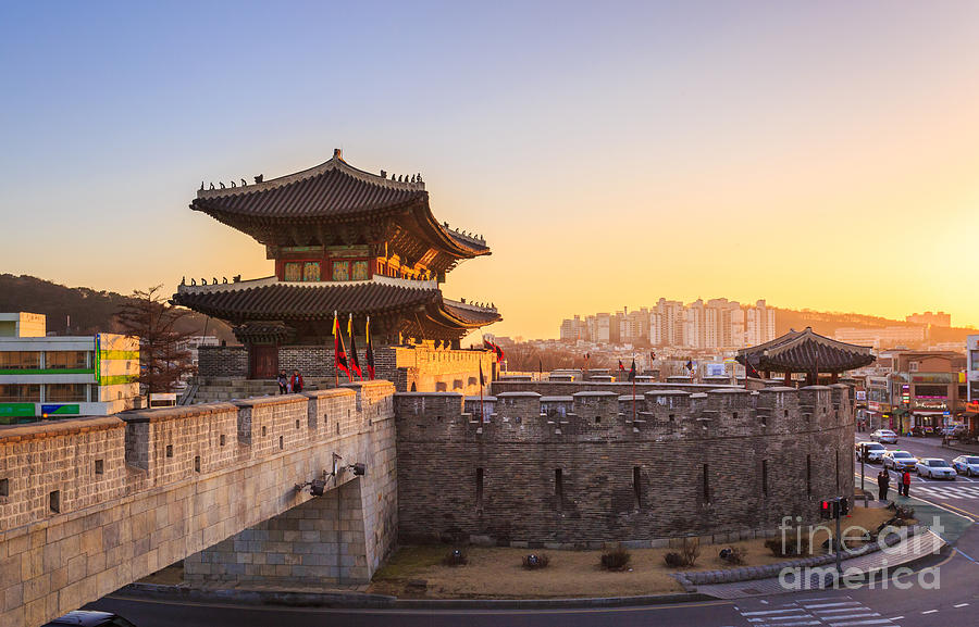 City Photograph - Hwaseong Fortress, Traditional by Pkphotograph