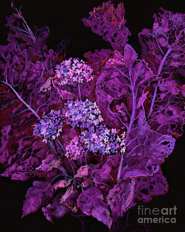 Hydrangea and Horseradish Purple Black by Julia Khoroshikh