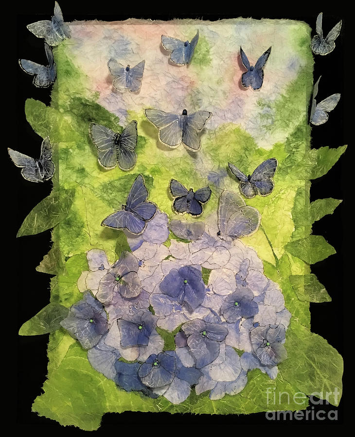 Hydrangea Or Butterflies, You Decide 3d Painting
