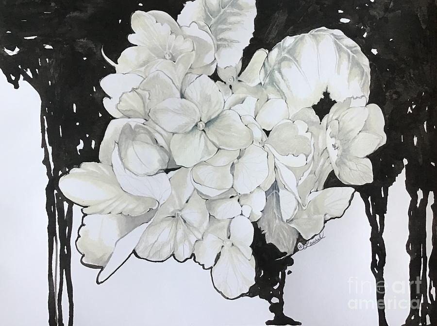 Hydrangea Pour by Laurel Adams