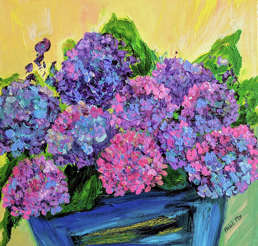 Flower Painting - Hydrangeas by Haleh Mahbod