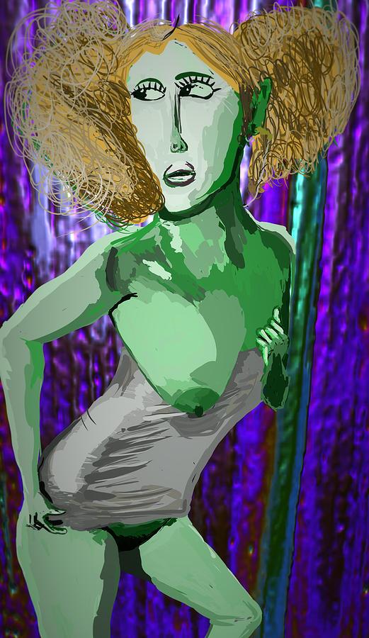 Nude Digital Art - Hyper Secret by Kevin Branham