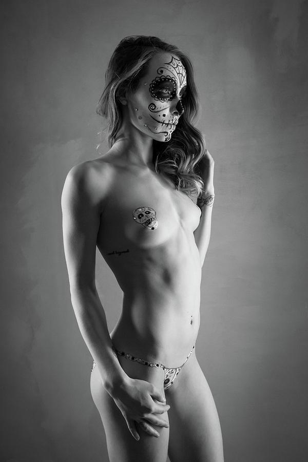 Monochromatic Nude Photograph - Hypnotique by Blue Muse Fine Art