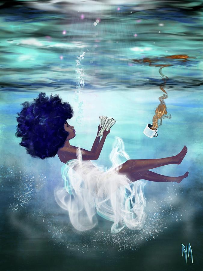 Bible Painting - I Aint Drowning by Artist RiA
