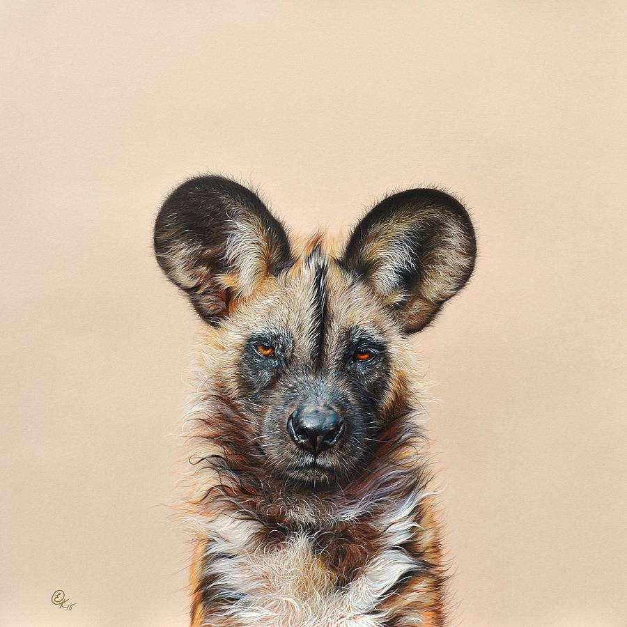 I am a Wild Thing - African Painted Dog by Elena Kolotusha