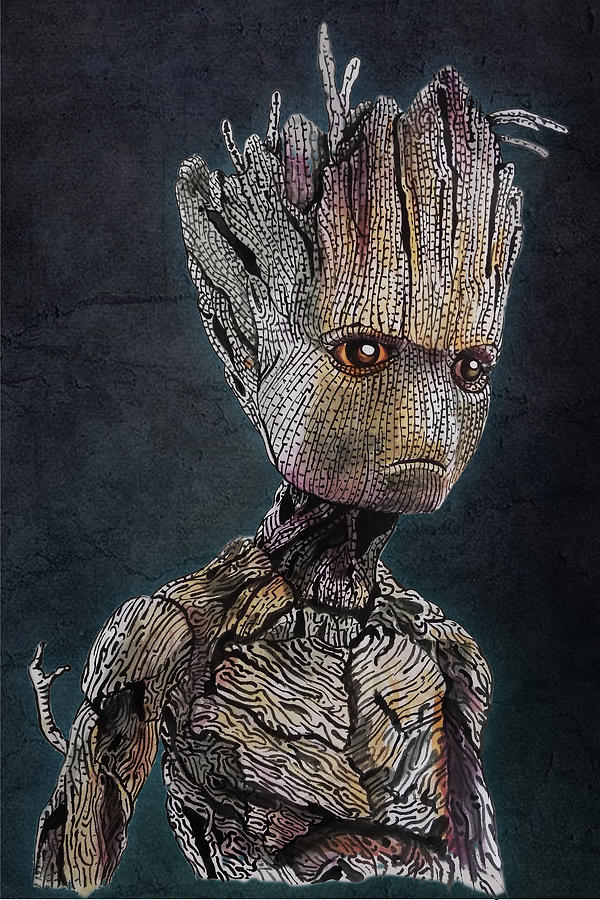 I Am Groot Portrait