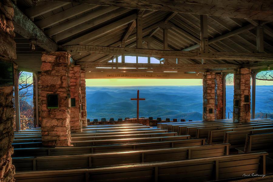 I Am He Pretty Place Chapel Great Smoky Mountains Blue Ridge Mountain Art by Reid Callaway