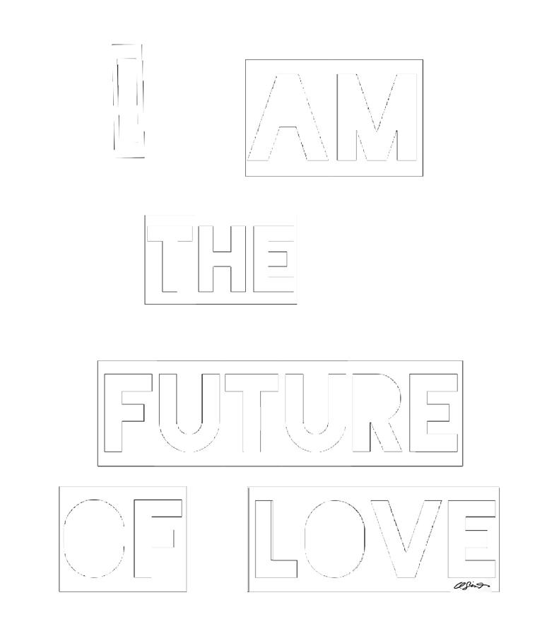 I Am The Future Of Love Painting by Clayton Singleton