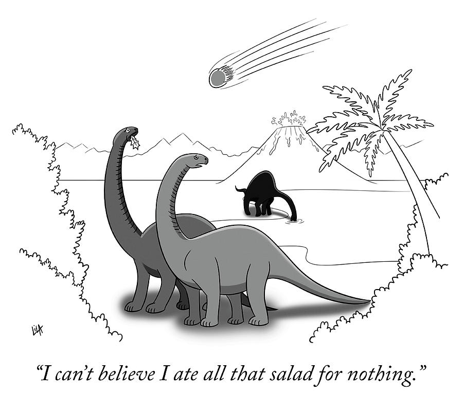 I Ate All That Salad For Nothing Drawing by Lila Ash