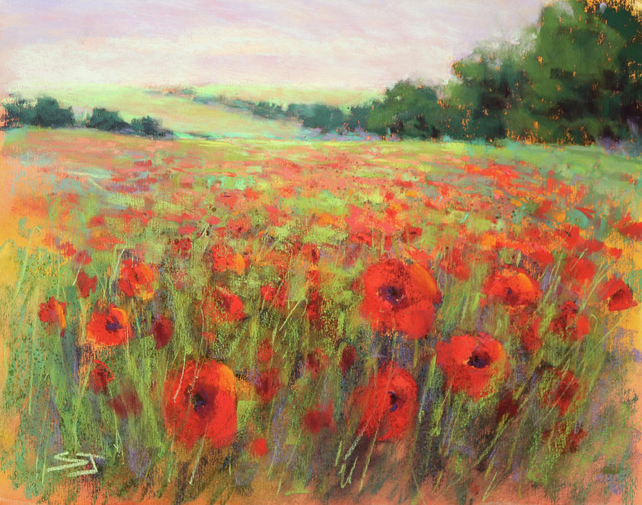 Poppies Painting - I Dream Of Poppies by Susan Jenkins