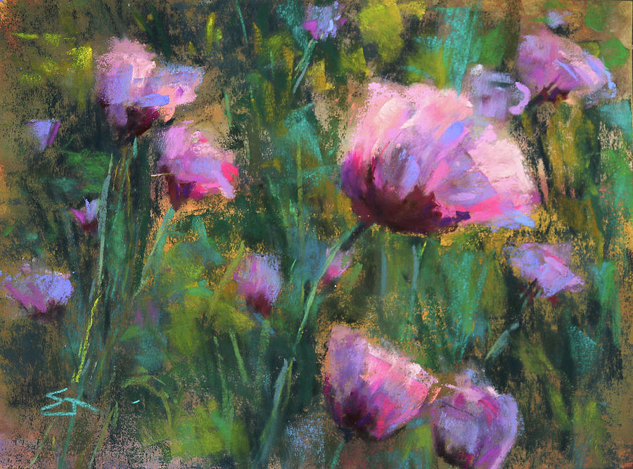 Poppies Painting - I Dream Of Purple by Susan Jenkins