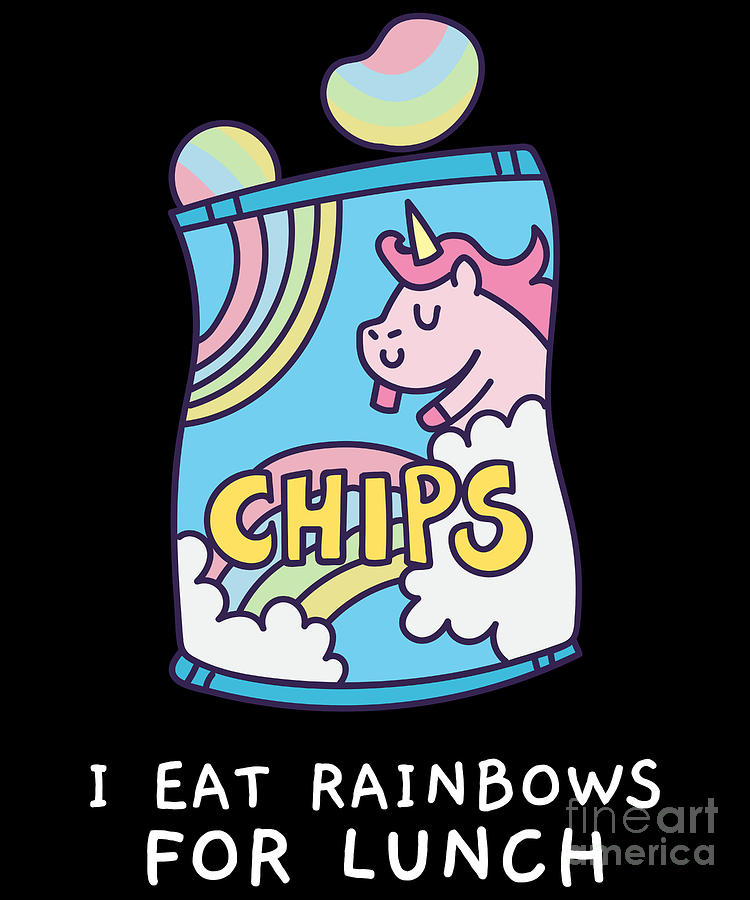 I Eat Rainbows for Lunch Unicorn Chips by Flippin Sweet Gear