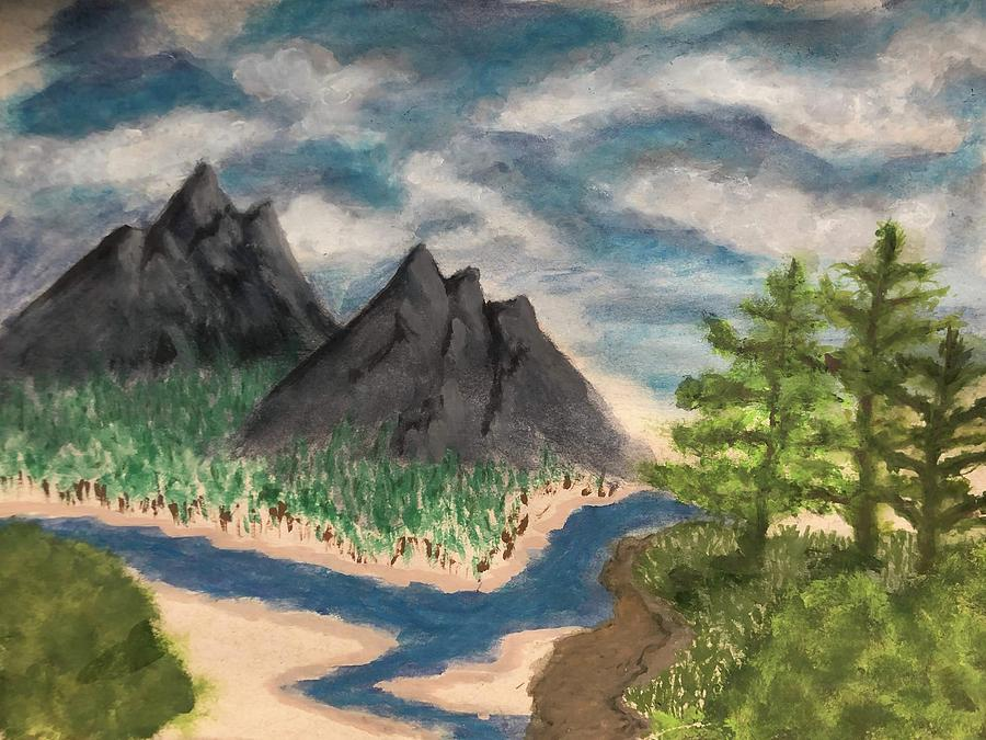Twin Peaks Painting - I have seen the mountain tops by Joshua Stepney