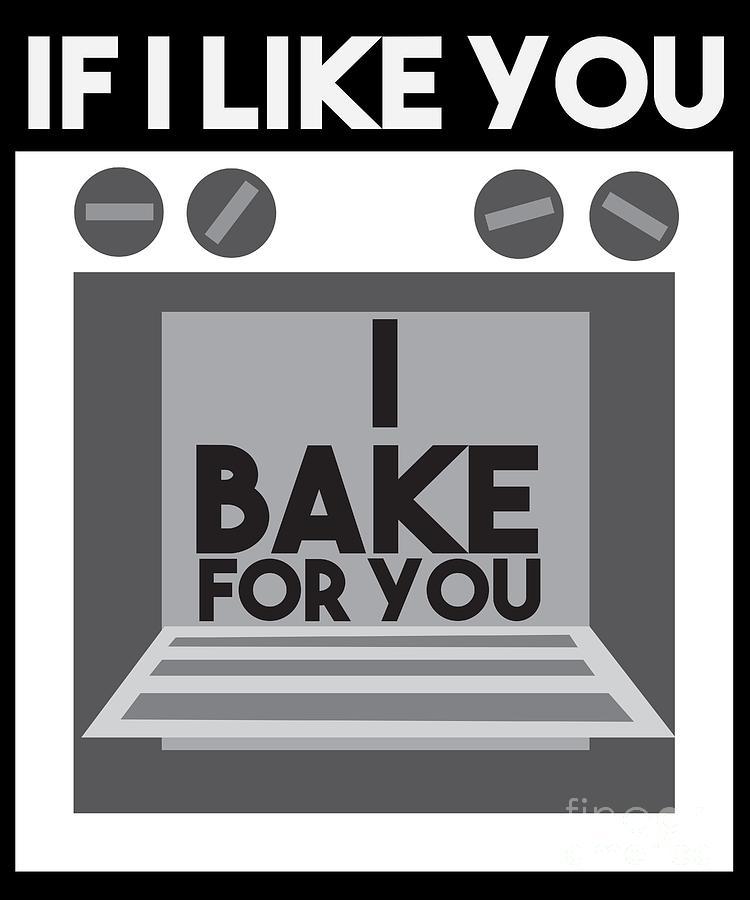 Sugar Digital Art -  I Love Baking Bake Funny Baker Gift by TeeQueen2603