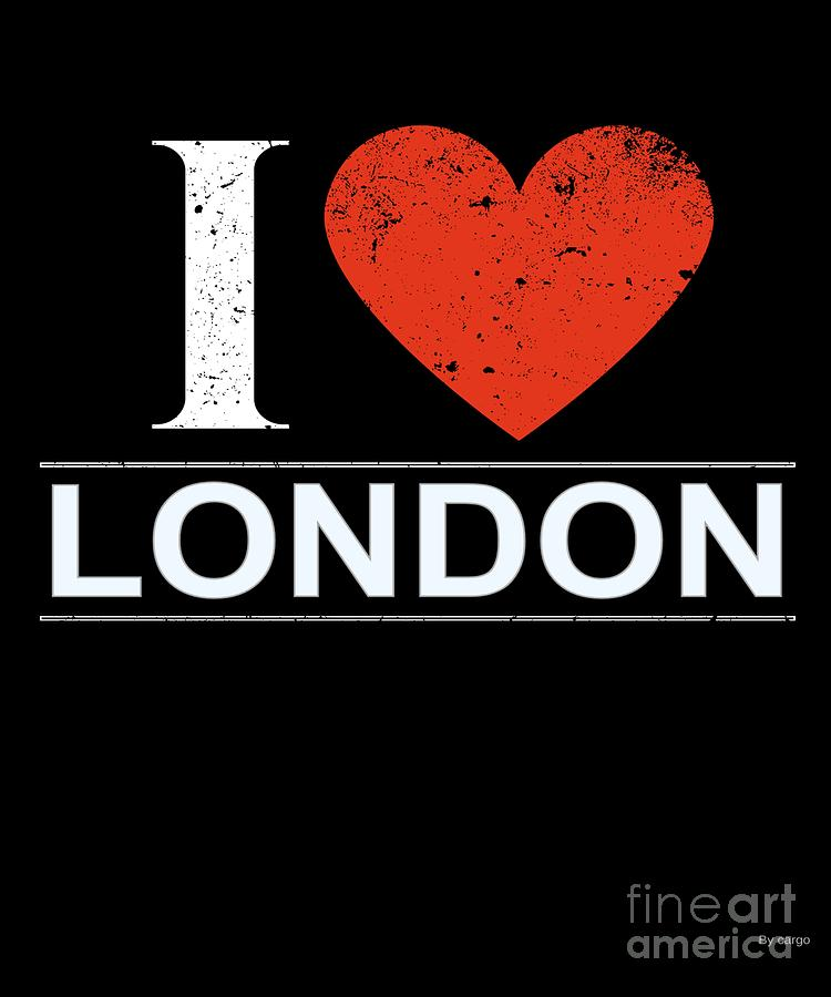 Gift Digital Art - I Love London by Jose O