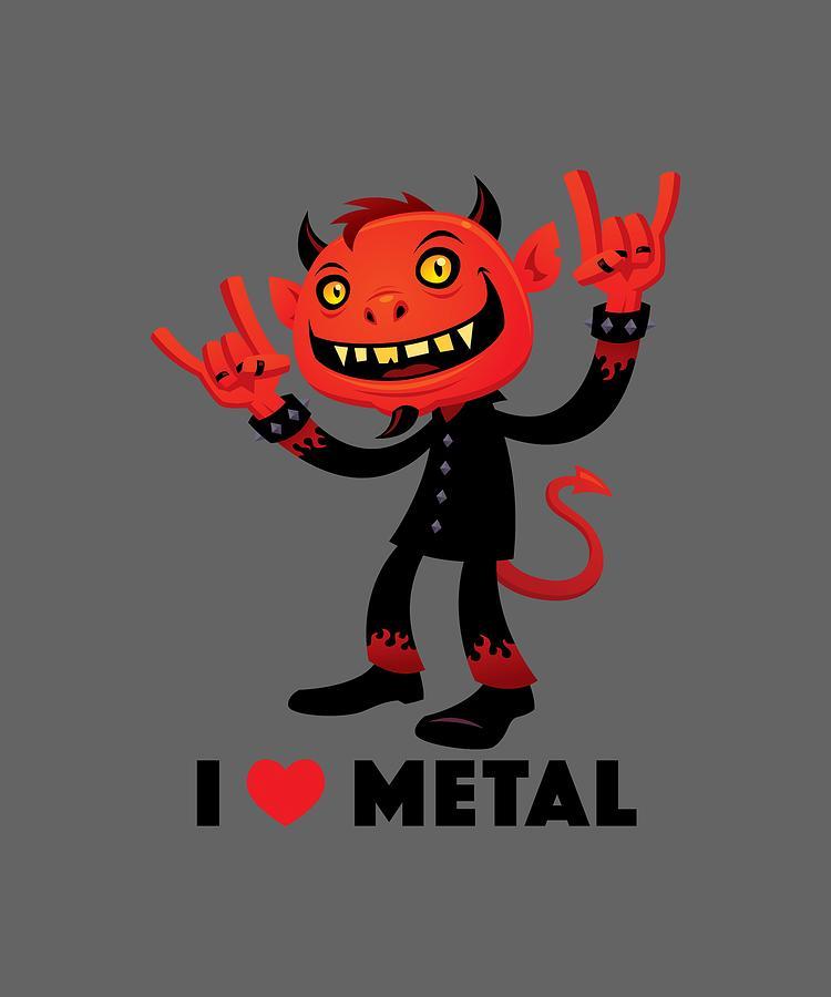 I Love Metal Devil Digital Art