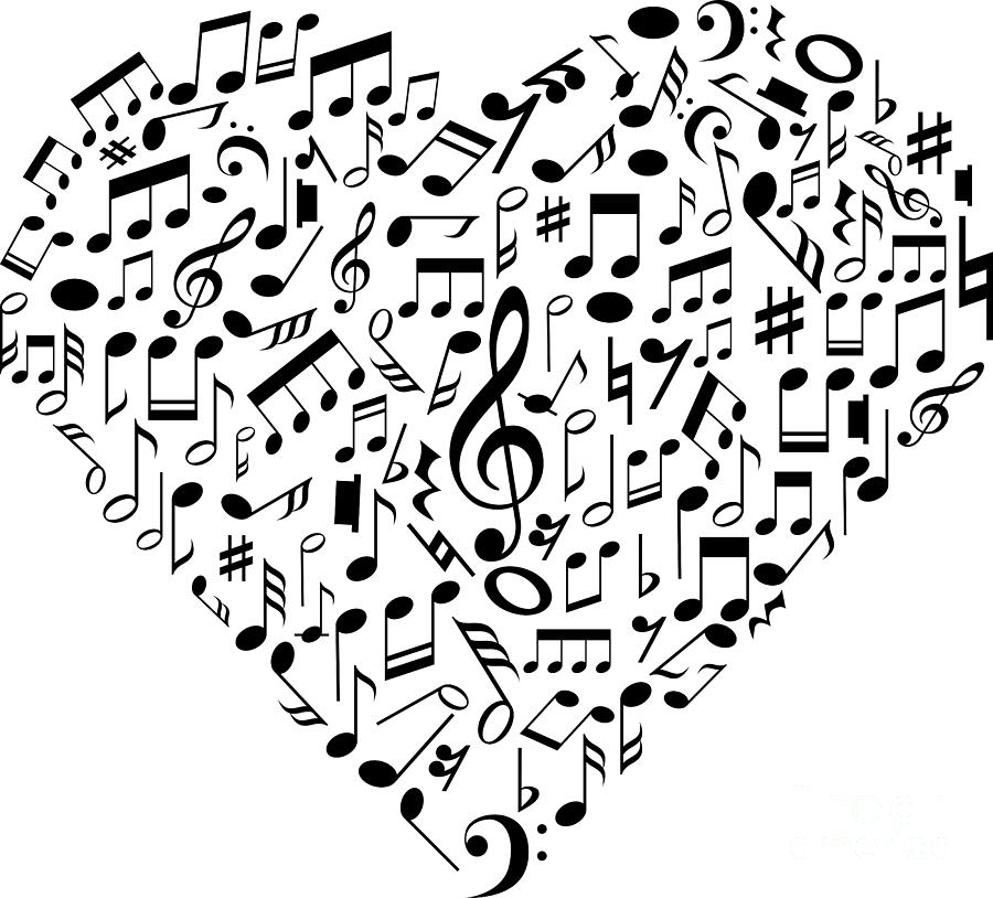 I Love Music Musical Symbols Musician by Mister Tee