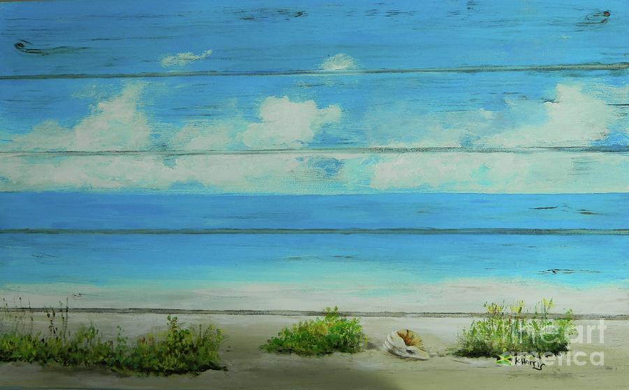I Love The Beach 1 by Kenneth Harris